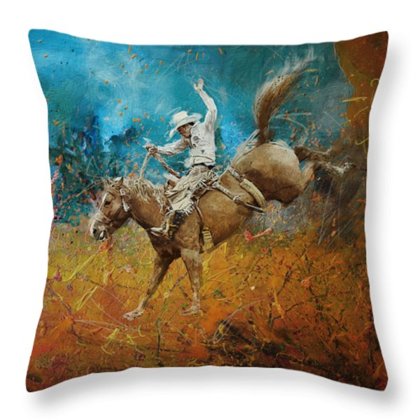 Rodeo 001 Throw Pillow by Corporate Art Task Force
