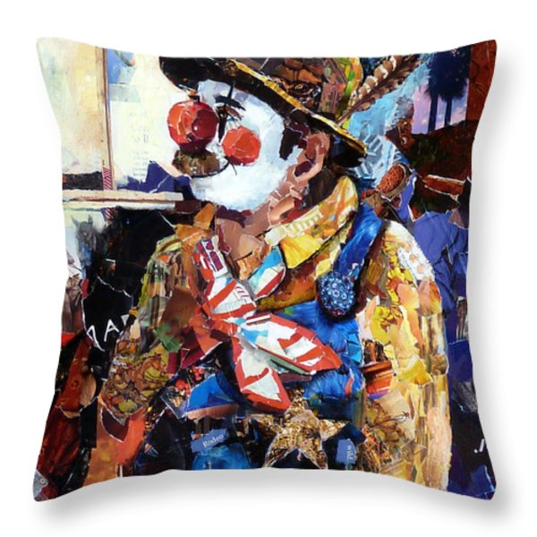 Rodeo Clown Throw Pillow by Suzy Pal Powell