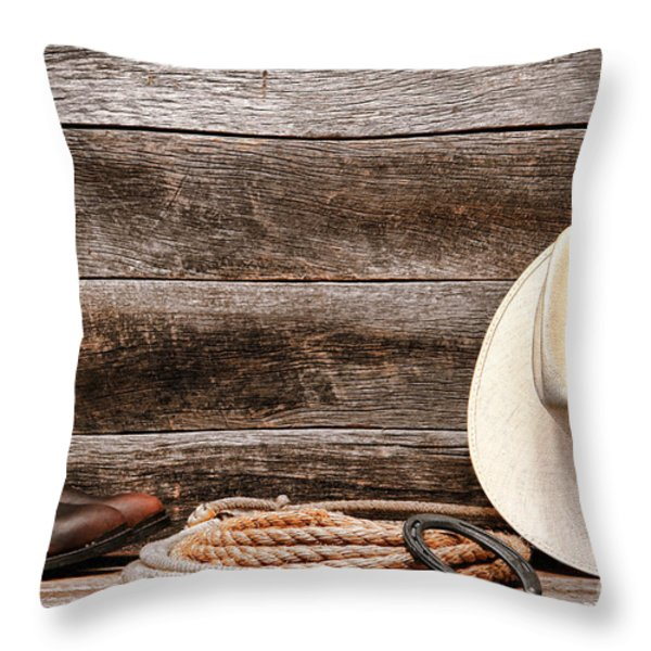 Rodeo Still Life Throw Pillow by Olivier Le Queinec