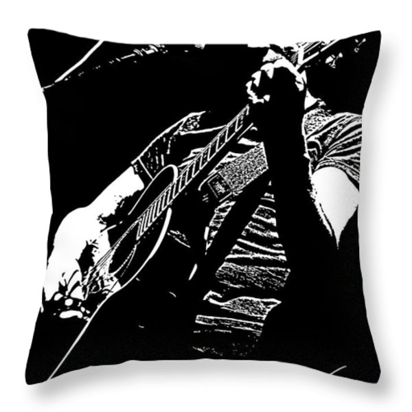 Roger Waters No.01 Throw Pillow by Caio Caldas
