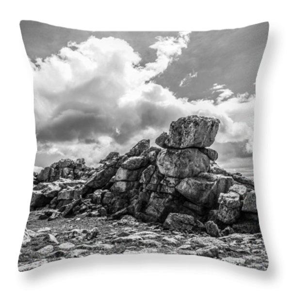 Rogers Peak Summit Throw Pillow by Aaron Spong