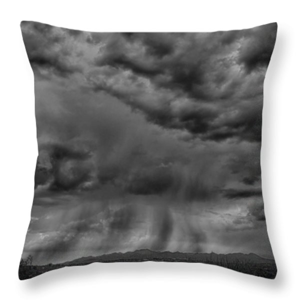 Roiling Sky Throw Pillow by Judi FitzPatrick