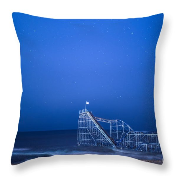 Roller Coaster Stars Throw Pillow by Michael Ver Sprill