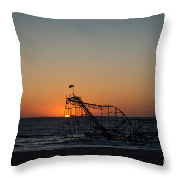 Roller Coaster Sunrise 2 Throw Pillow by Michael Ver Sprill