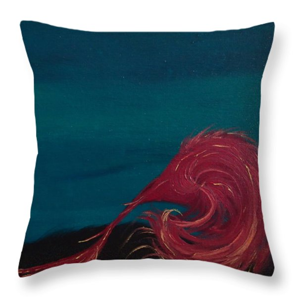 Rollin Seaweed Throw Pillow by Robert Nickologianis