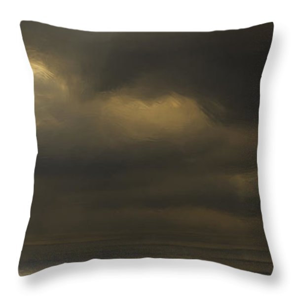 Rolling Sea Throw Pillow by Ron Jones