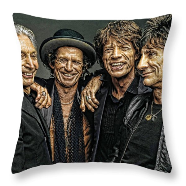 Rolling Stones Throw Pillow by Riccardo Zullian
