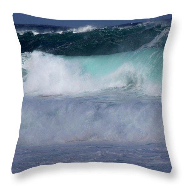 ROLLING THUNDER Throw Pillow by KAREN WILES