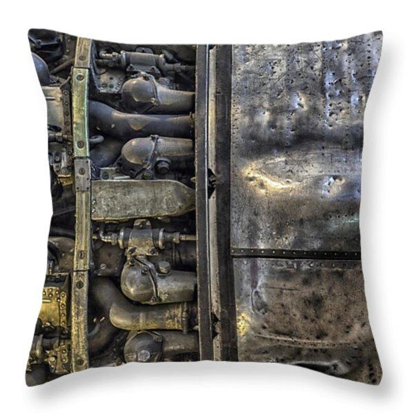 Rolls-royce Dart Turboprop Detail Throw Pillow by Lynn Palmer