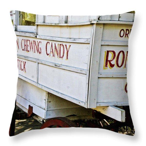 Roman Chewing Candy Throw Pillow by Scott Pellegrin