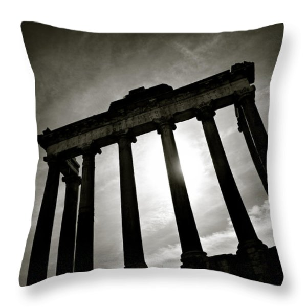 Roman Forum Throw Pillow by Dave Bowman