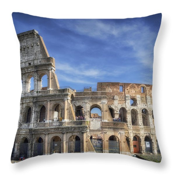 Roman Icon Throw Pillow by Joan Carroll