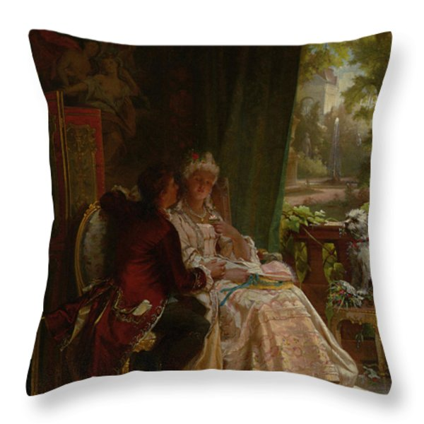 Romance Throw Pillow by Carl Herpfer