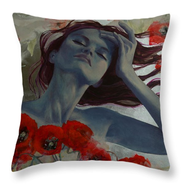 Romance Echo Throw Pillow by Dorina  Costras