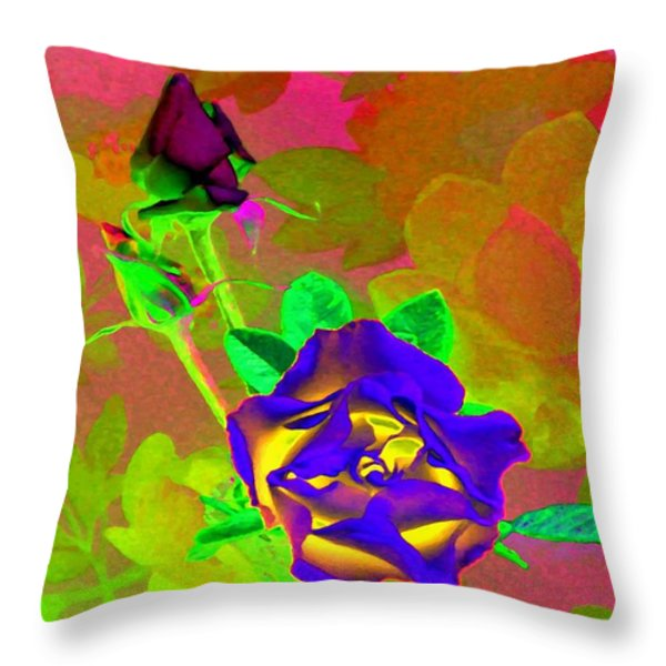 Romancing The Rose Throw Pillow by Will Borden