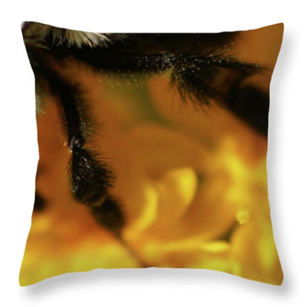 Romancing Yellow Throw Pillow by Linda Knorr Shafer