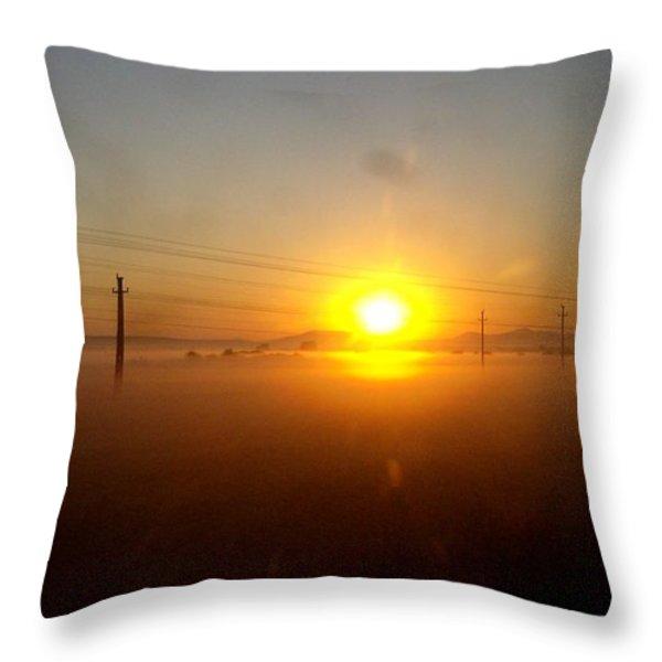 Romanian Sunset Throw Pillow by Giuseppe Epifani