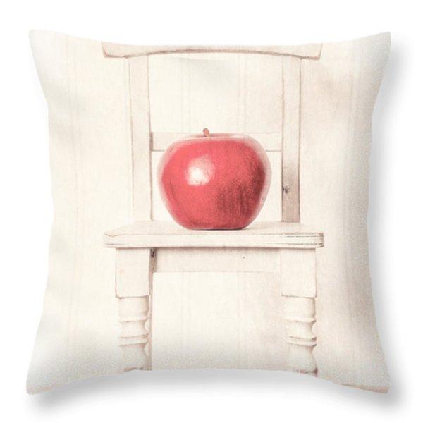 Romantic Apple Still Life Throw Pillow by Edward Fielding