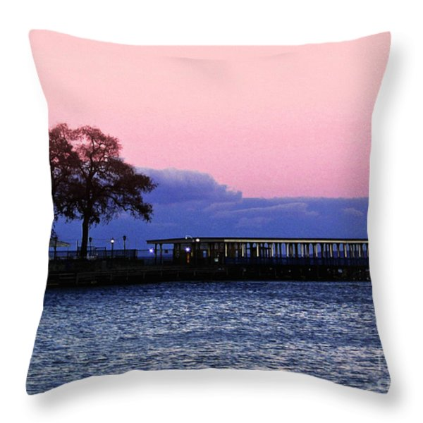 Romantic Seascape  Throw Pillow by Carol F Austin
