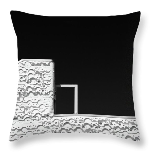 Roof Door Throw Pillow by Dave Bowman