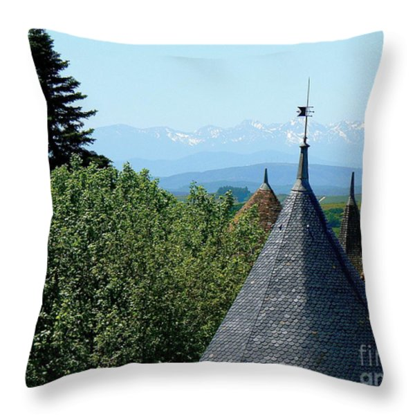 Rooftops of Carcassonne Throw Pillow by FRANCE  ART