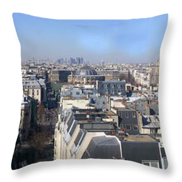 Rooftops Of Paris Throw Pillow by Thomas Marchessault