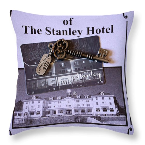 Room 401 Throw Pillow by Cheryl Young