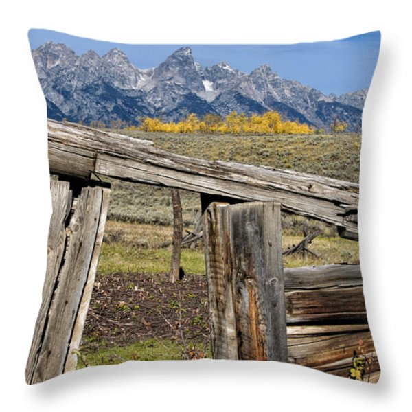 Room with a View Throw Pillow by Kathleen Bishop