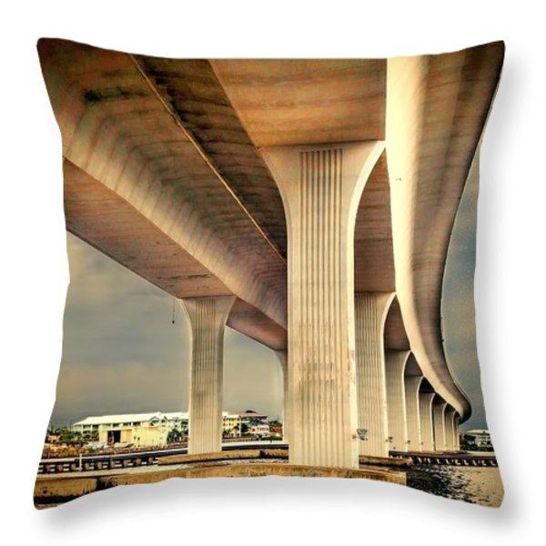 Roosevelt bridge-1 Throw Pillow by Rudy Umans