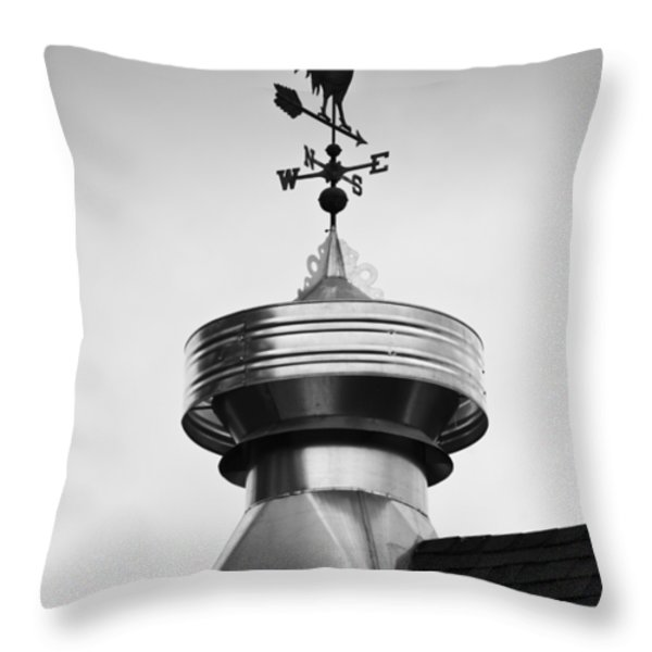 Rooster Vane Throw Pillow by Christi Kraft