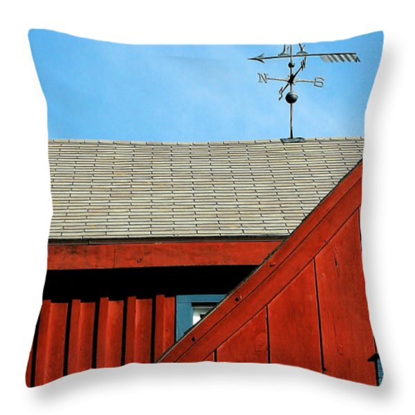 Rooster Weathervane Throw Pillow by Sabrina L Ryan