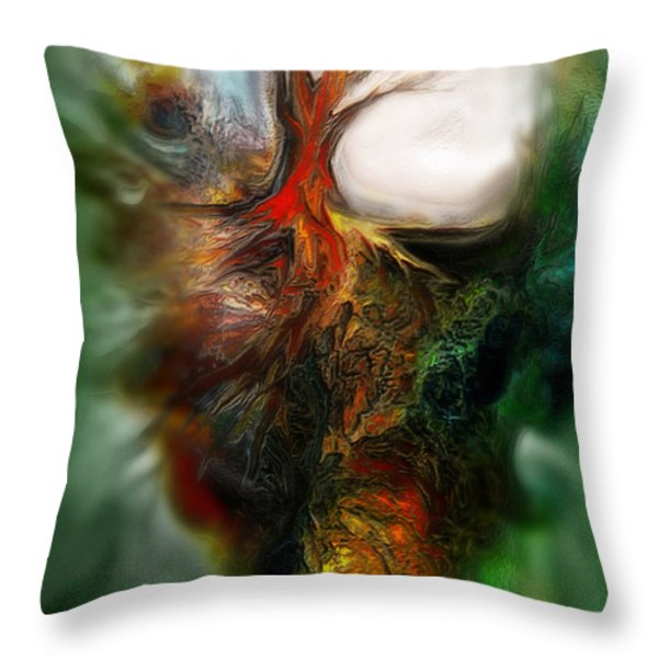 Roots Throw Pillow by Carol Cavalaris