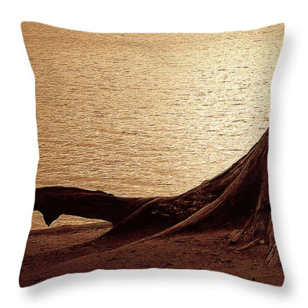 Roots Throw Pillow by Mim White