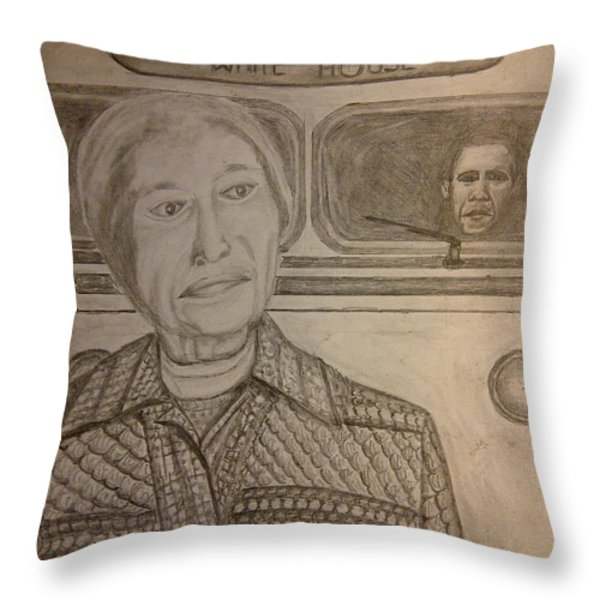 Rosa Parks Imagined Progress Throw Pillow by Irving Starr