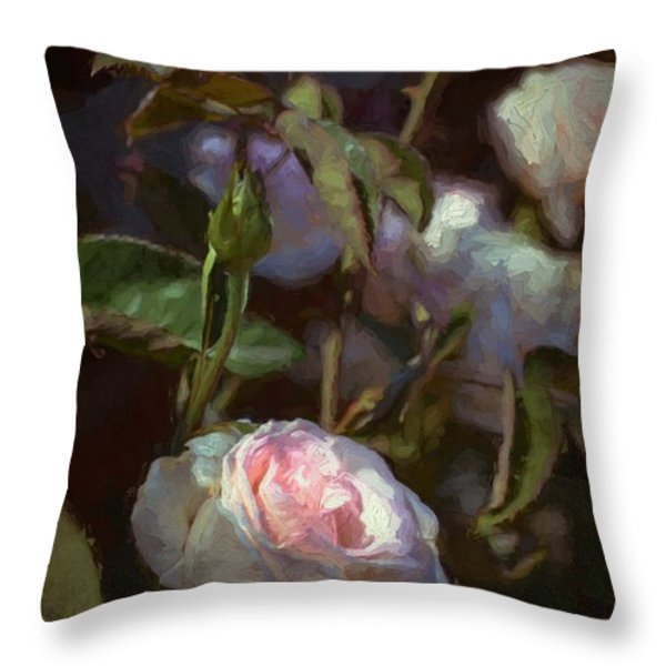Rose 122 Throw Pillow by Pamela Cooper