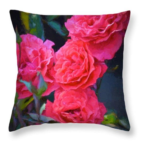 Rose 138 Throw Pillow by Pamela Cooper