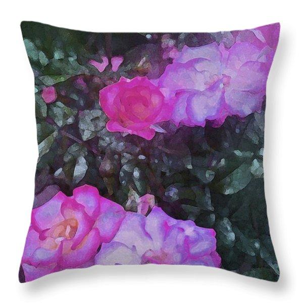 Rose 189 Throw Pillow by Pamela Cooper