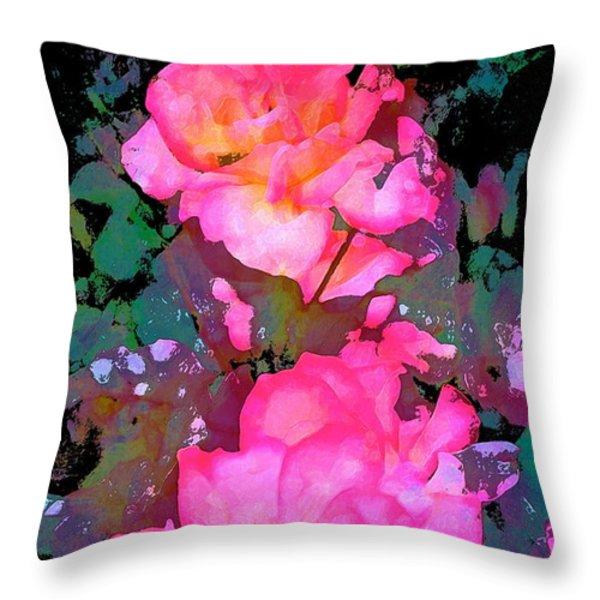 Rose 193 Throw Pillow by Pamela Cooper