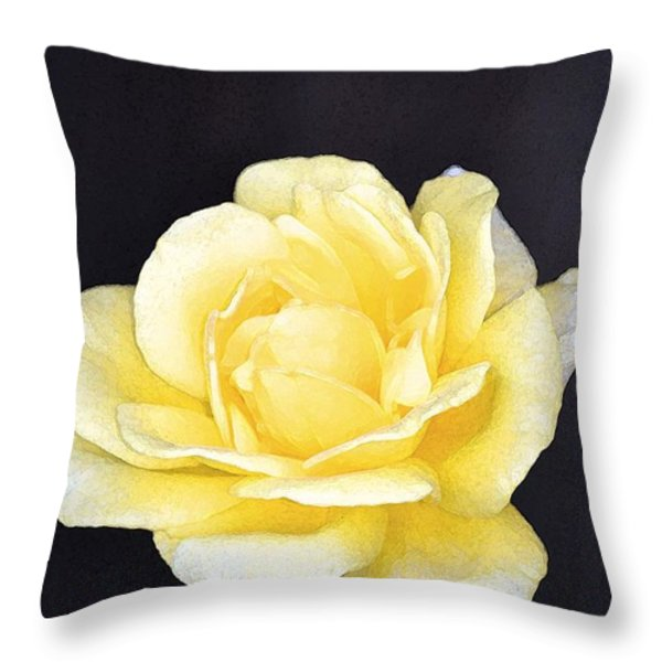 Rose 196 Throw Pillow by Pamela Cooper