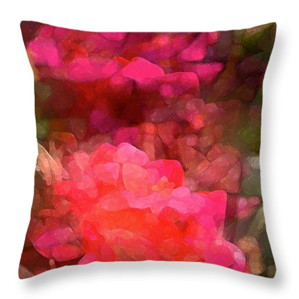 Rose 198 Throw Pillow by Pamela Cooper