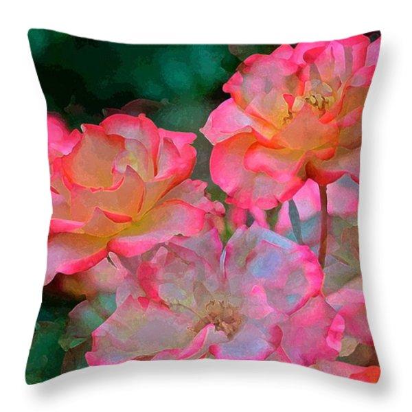 Rose 203 Throw Pillow by Pamela Cooper