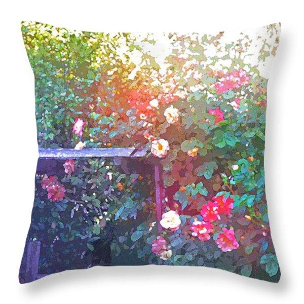 Rose 205 Throw Pillow by Pamela Cooper