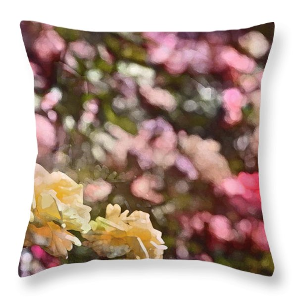 Rose 209 Throw Pillow by Pamela Cooper