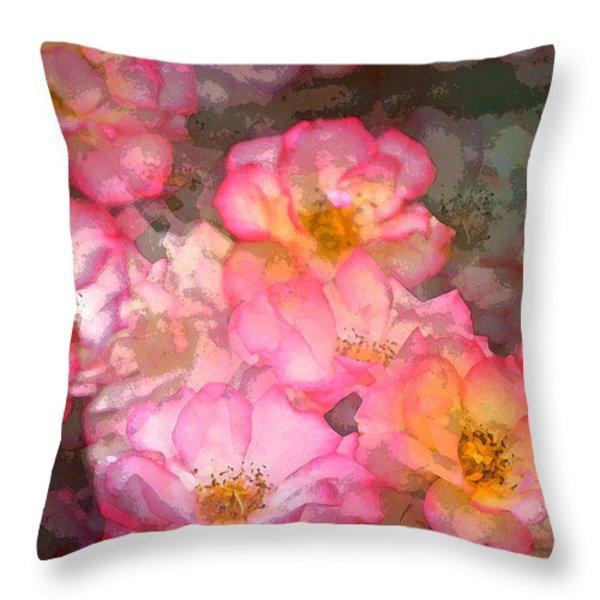 Rose 210 Throw Pillow by Pamela Cooper