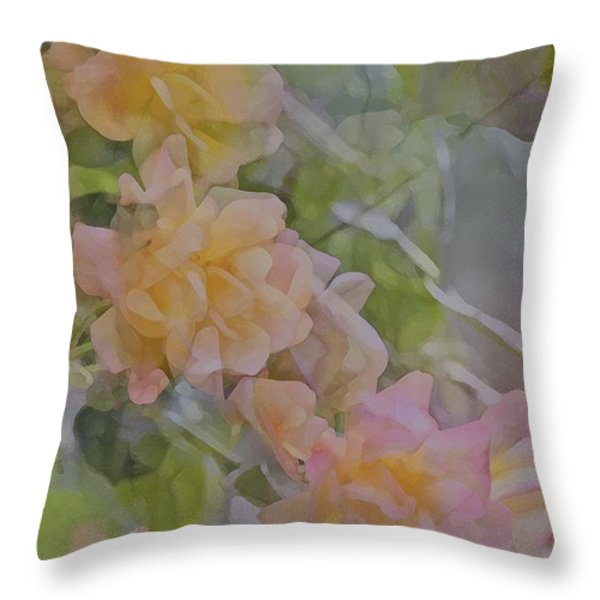 Rose 213 Throw Pillow by Pamela Cooper