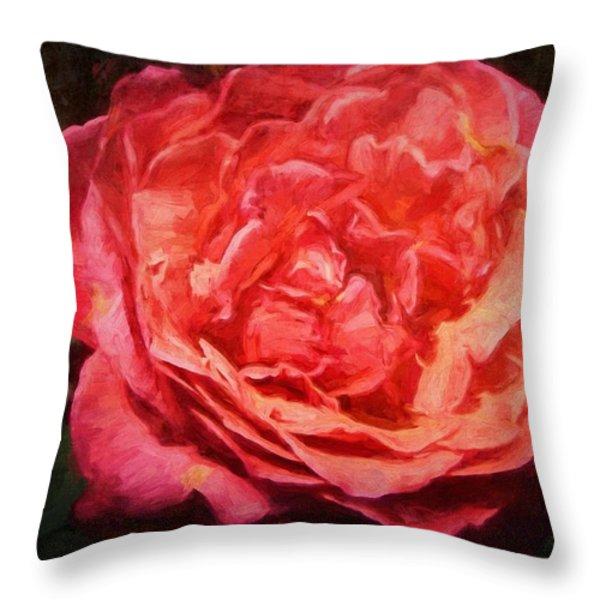 Rose 52 Throw Pillow by Pamela Cooper