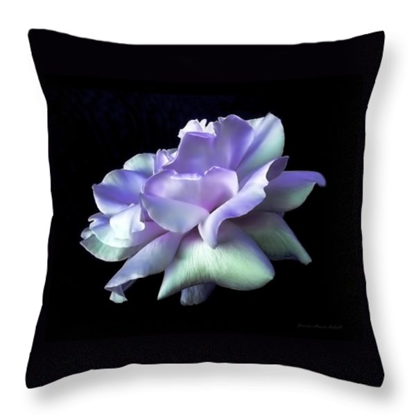 Rose Awakening Floral Throw Pillow by Jennie Marie Schell