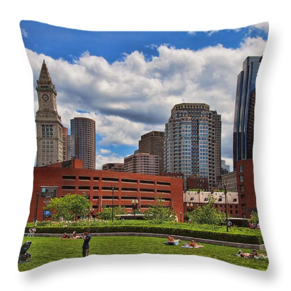 Rose Fitzgerald Kennedy Greenway Throw Pillow by Joann Vitali