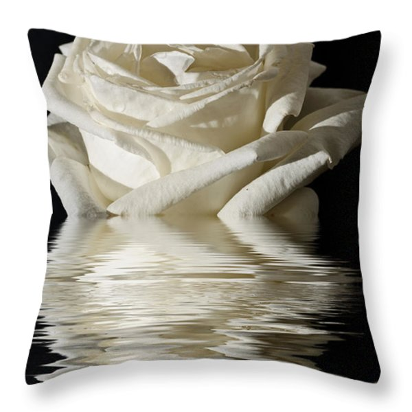 Rose Flood Throw Pillow by Steve Purnell
