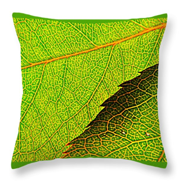 Rose Foliage Number Two Throw Pillow by Chris Berry